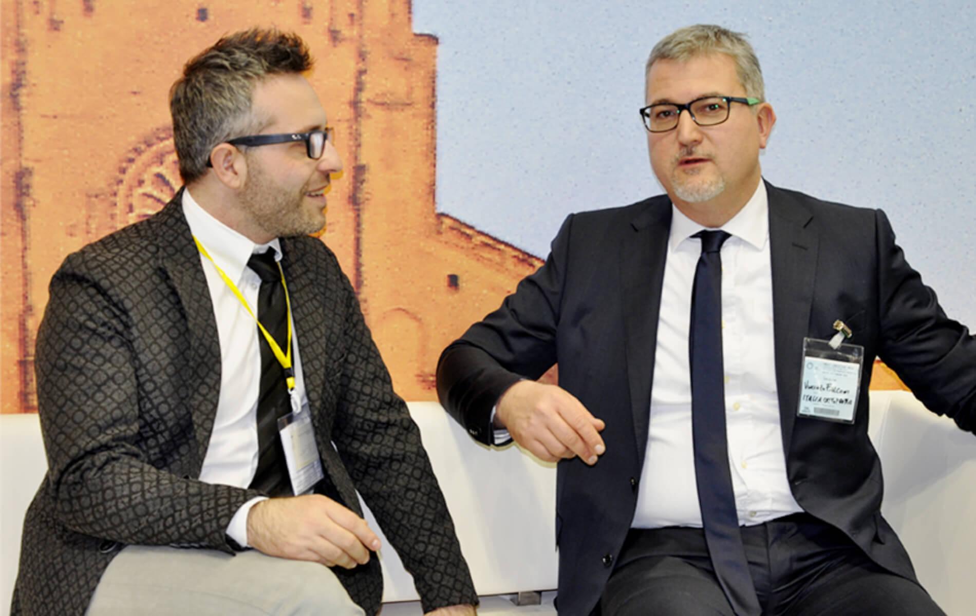 Salvatore Pecchia, agronomo Ufficio tecnico AFI, con Vincenzo Falconi, direttore di Italia Ortofrutta